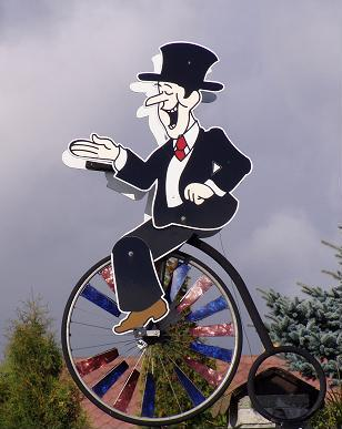 Kurt auf dem Fahrrad am Start